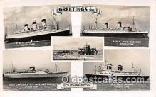shi062009 - RMS Queen Mary, Union Castle RMMV Capetown Castle Southampton Ship Postcard Post Card