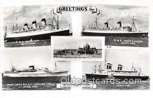 shi062010 - RMS Queen Mary, Union Castle RMMV Capetown Castle Southampton Ship Postcard Post Card