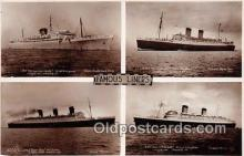 shi062016 - Union Castle Mail SS Co, RMS Queen Elizabeth Famous Liners Ship Postcard Post Card