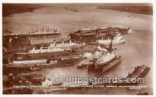 shi062027 - Southampton Docks Largest Liners Ship Postcard Post Card