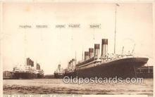 shi062030 - Mauretania, Berengaria Southampton Docks Ship Postcard Post Card