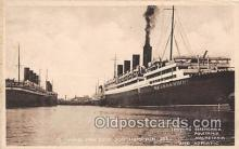 shi062032 - Berengaria, Aquitania White Star Dock Southampton Ship Postcard Post Card