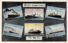 shi062040 - Leviathan, Olympic The Big Six, Largest Liners Ship Postcard Post Card