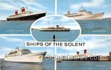 shi062042 - United States, Canberra Isle of Wight, Ship of the Solent Ship Postcard Post Card