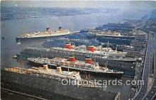 shi062044 - Port of New York Aircraft Carrier Intrepid Ship Postcard Post Card
