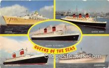shi062045 - Oriana, Queen Mary Queen Elizabeth, United States, Canberra Ship Postcard Post Card