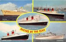 shi062046 - Oriana, Queen Mary Queen Elizabeth, United States, Canberra Ship Postcard Post Card