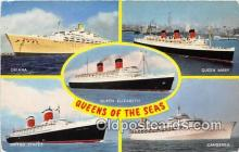 shi062049 - Oriana, Queen Mary Queen Elizabeth, United States, Canberra Ship Postcard Post Card
