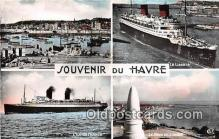 shi062051 - Vue Du Port, Le Liberte, Lil De France Souvenir Du Havre Ship Postcard Post Card