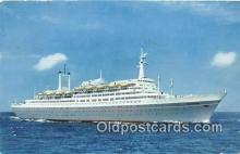 shi062052 - New Flagship SS Rotterdam Ship Postcard Post Card