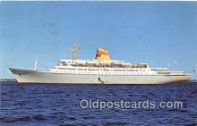 shi062074 - Sagafjord, Cruise Ship Norwegian America Line Ship Postcard Post Card