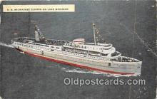 shi062079 - SS Milwaukee Clipper Lake Michigan Ship Postcard Post Card