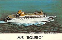 shi062085 - MS Bolero Norwegian Resgistry 1973 Ship Postcard Post Card