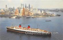 shi062093 - Cunard RMS Queen Elizabeth  Ship Postcard Post Card