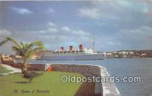 shi062096 - Queen of Bermuda  Ship Postcard Post Card