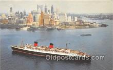 shi062097 - Cunard RMS Queen Elizabeth  Ship Postcard Post Card