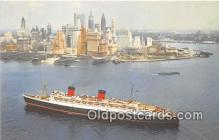 shi062098 - Cunard RMS Queen Elizabeth  Ship Postcard Post Card