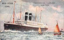 shi062101 - Red Star Line SS Lapland Ship Postcard Post Card