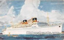 shi062104 - Matson Lines Luxury Liner Ship Postcard Post Card
