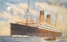shi062107 - Twin Screw SS Doric White Star Line Ship Postcard Post Card
