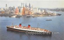 shi062124 - Cunard RMS Queen Elizabeth  Ship Postcard Post Card