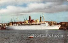 shi062126 - MS Kungsholm Swedish American Line Ship Postcard Post Card