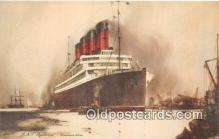 shi062130 - RMI Aquitania Cunard Line Ship Postcard Post Card