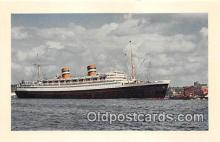 shi062131 - Holland American Line Flagship Nieuw Amsterdam Ship Postcard Post Card
