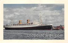 shi062132 - Holland American Line Flagship Nieuw Amsterdam Ship Postcard Post Card