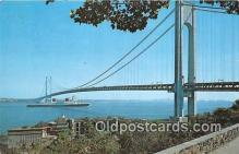 shi062133 - Verrazano Narrows Bridge Brooklyn, Staten Island, New York USA Ship Postcard Post Card