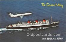 shi062136 - Queen Mary Long Beach, California USA Ship Postcard Post Card