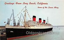 shi062137 - Queen Mary Long Beach, California USA Ship Postcard Post Card