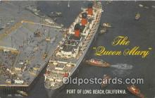 shi062138 - Queen Mary Port of Long Beach, California Ship Postcard Post Card