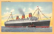 shi062145 - SS Queen Mary Cunard White Star Line Ship Postcard Post Card