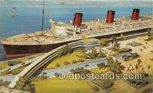 shi062146 - Queen Mary Long Beach, California USA Ship Postcard Post Card