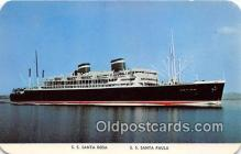 shi062148 - SS Santa Rosa, SS Santa Paula Grace Line Ship Postcard Post Card