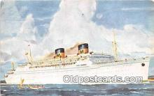 shi062149 - Matson Lines Luxury Liner Lurline  Ship Postcard Post Card