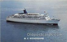 shi062157 - MV Wickersham Alaska Marine Highway Ship Postcard Post Card