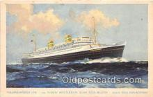 shi062159 - TSS Nieuw Amsterdam Holland American Line Ship Postcard Post Card