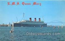 shi062168 - RMS Queen Mary Port of Long Beach, California USA Ship Postcard Post Card