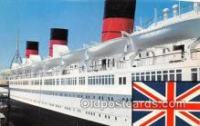 shi062169 - Queen Mary British Flag Ship Postcard Post Card