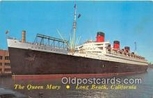 shi062170 - Queen Mary Long Beach, California USA Ship Postcard Post Card