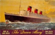 shi062171 - Queen Mary Long Beach, California USA Ship Postcard Post Card