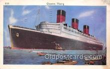 shi062172 - Queen Mary  Ship Postcard Post Card