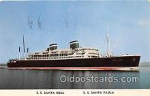shi062173 - SS Santa Rosa, SS Santa Paula Grace Line Ship Postcard Post Card