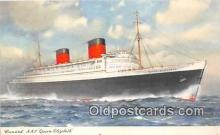shi062177 - Cunard RMS Queen Elizabeth  Ship Postcard Post Card