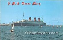 shi062180 - RMS Queen Mary Port of Long Beach, California USA Ship Postcard Post Card