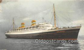 shi062181 - SS Nieuw Amsterdam  Ship Postcard Post Card