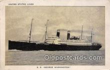 shi062182 - SS George Washington United States Lines Ship Postcard Post Card