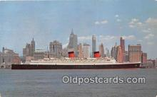 shi062186 - SS Queen Elizabeth Manhattan, New York City USA Ship Postcard Post Card